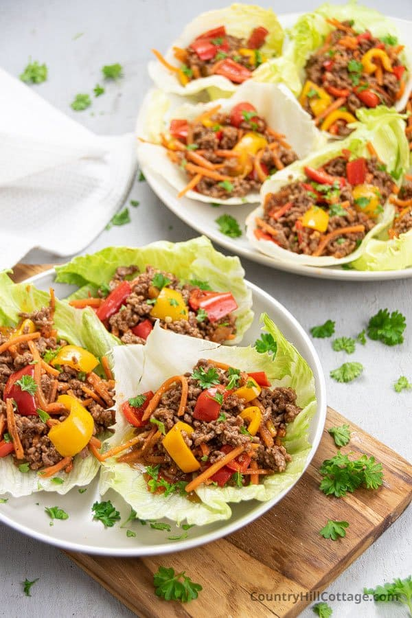 Easy beef lettuce cups