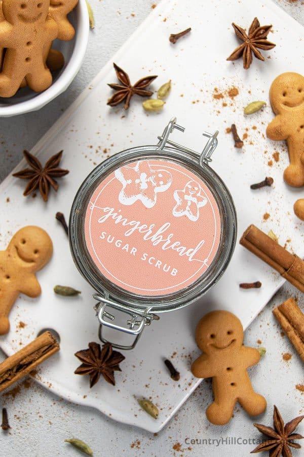 Gingerbread body scrub gift