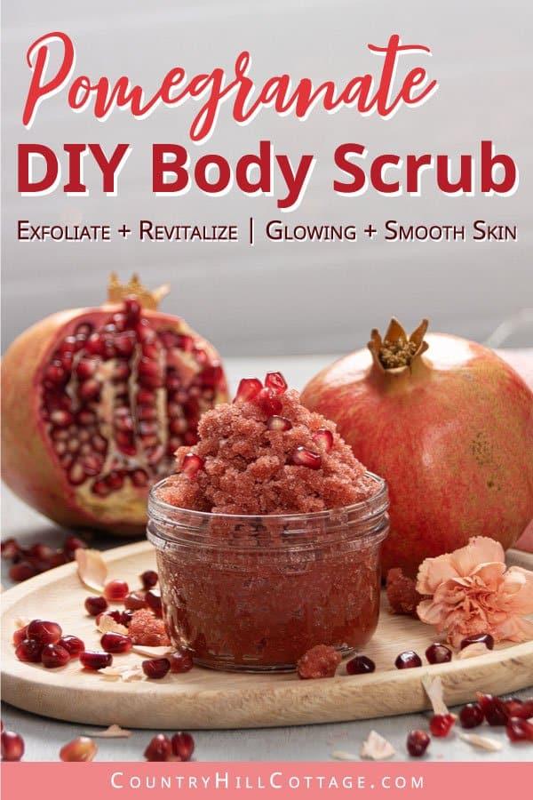 Homemade Pomegranate Sugar Scrub