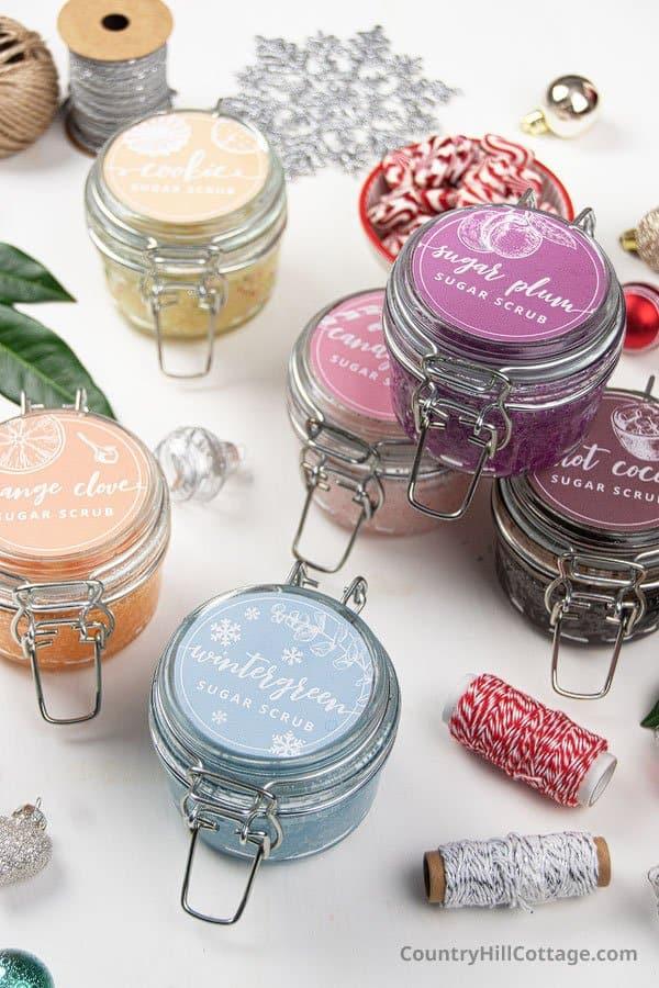 Homemade sugar scrub for gifts