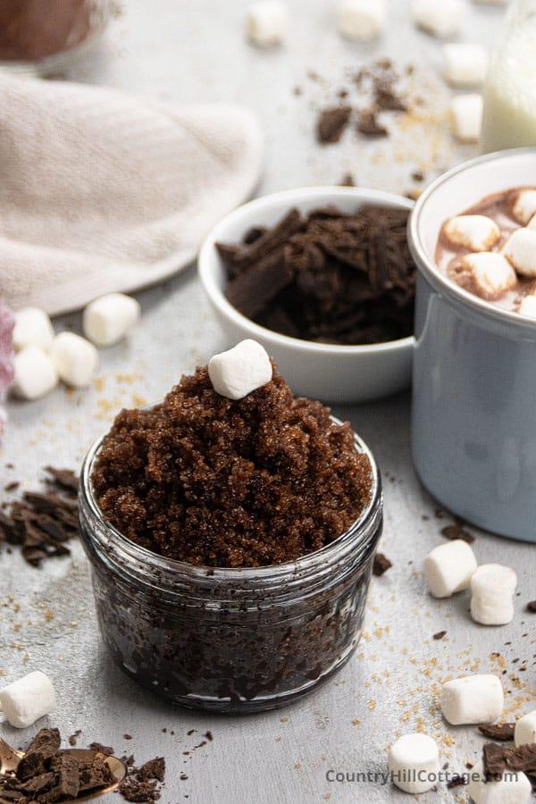 Hot chocolate sugar scrub