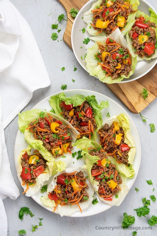 Mexican Lettuce Wraps on a plate