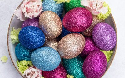 DIY Glitter Easter Eggs