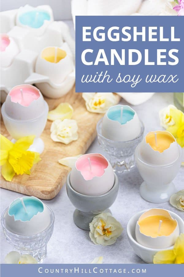 DIY soy candles in eggshells