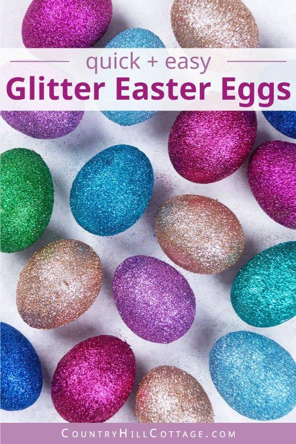 Easy glitter eggs