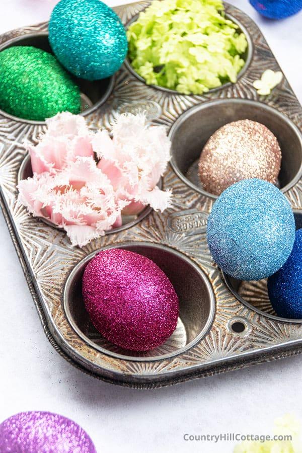 How to glitter eggs