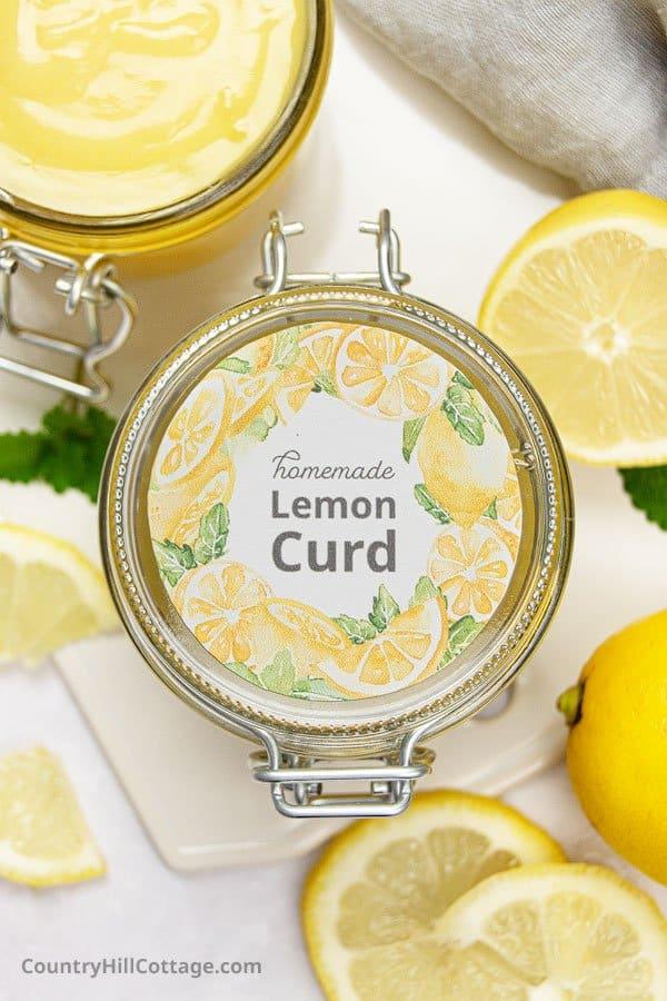 Printable lemon curd label