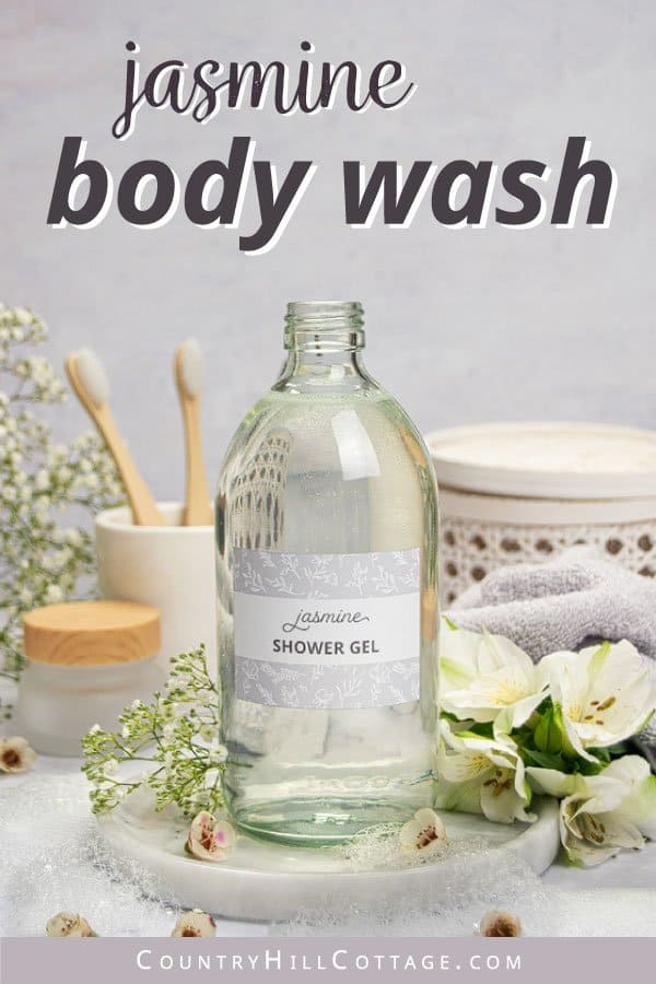 DIY jasmine shower gel