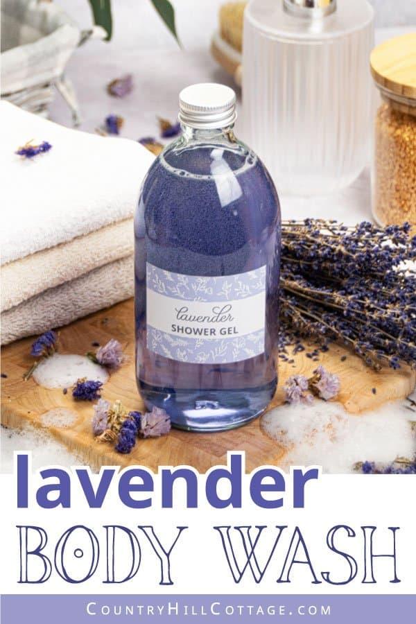 DIY lavender shower gel