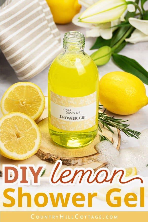 DIY lemon body wash