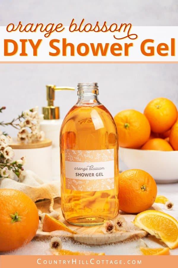 DIY orange shower gel