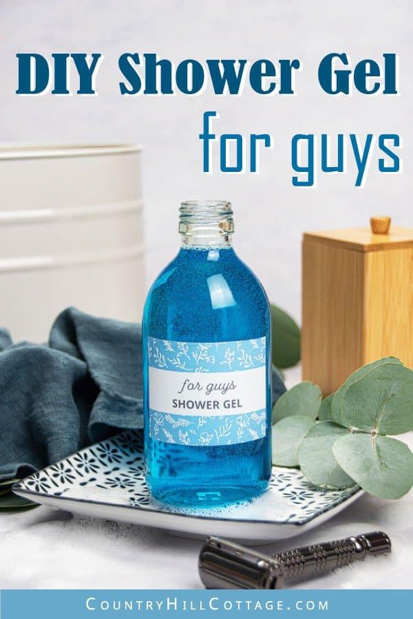 DIY shower gel for men
