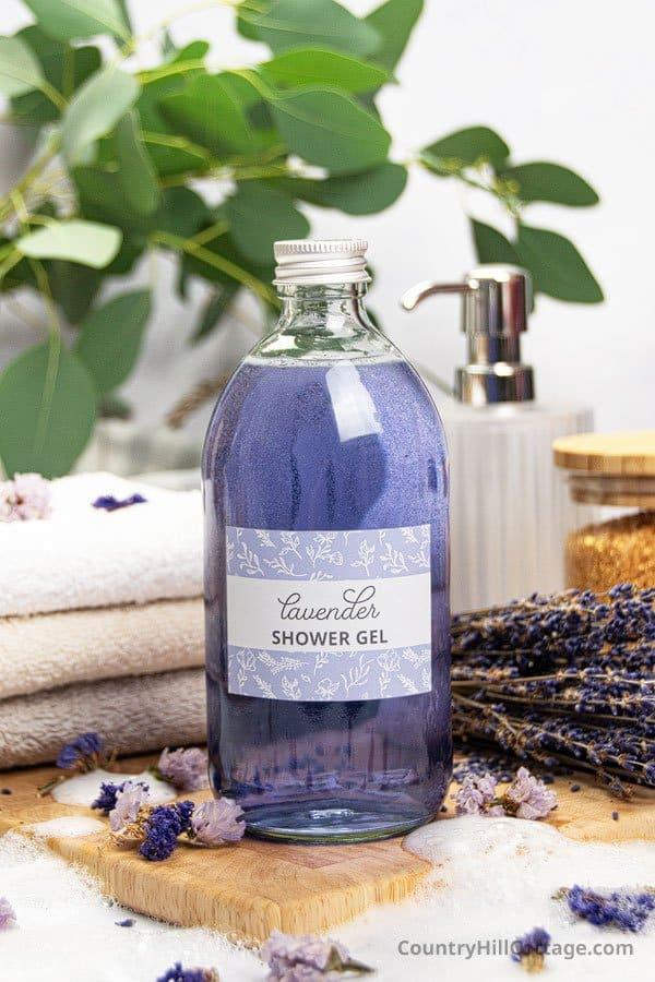 homemade lavender body wash
