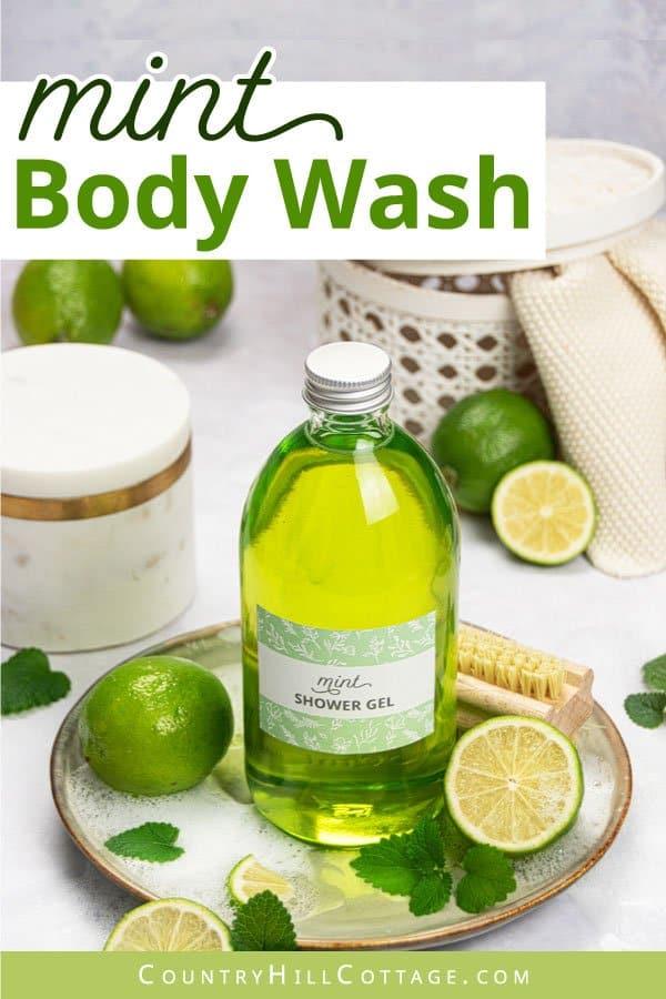 Homemade shower gel with essential oils