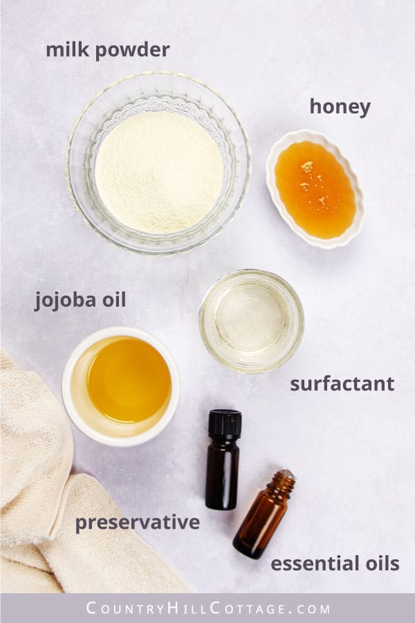 milk and honey body wash ingredients