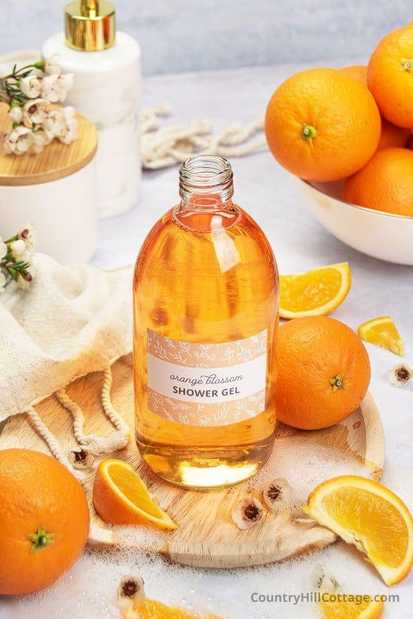 Orange blossom shower gel