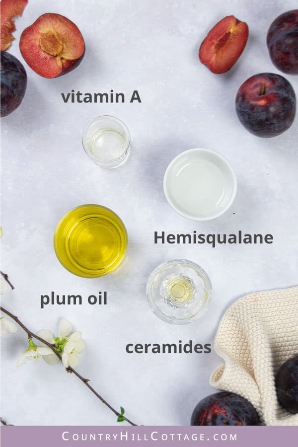 plum serum ingredients