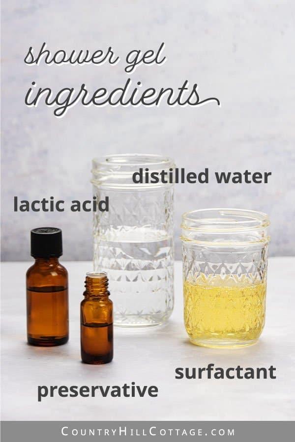 shower gel ingredients