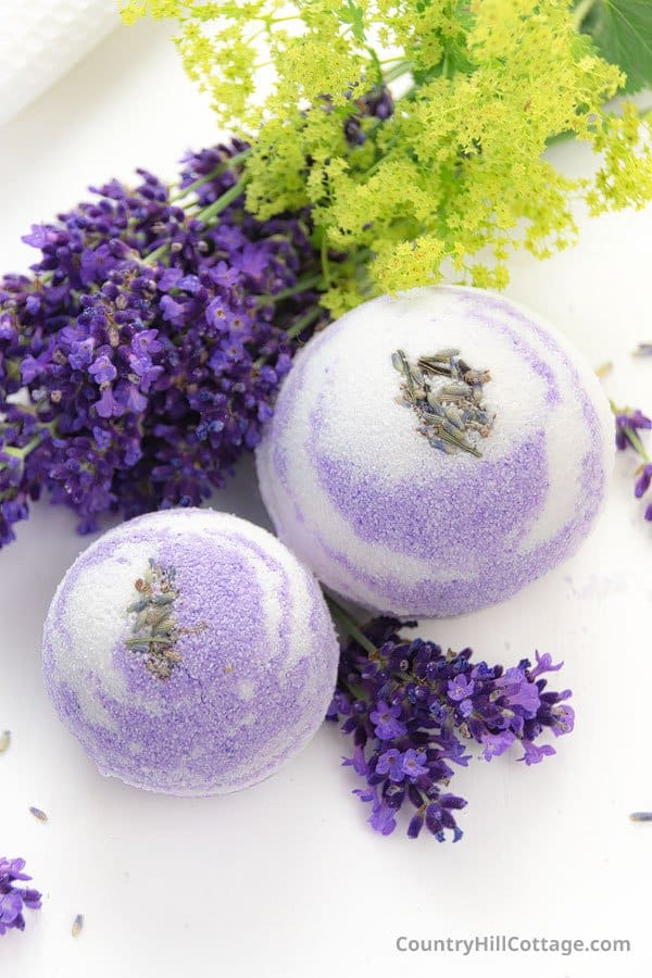 Bath Bombs with Lavender Essential Oil