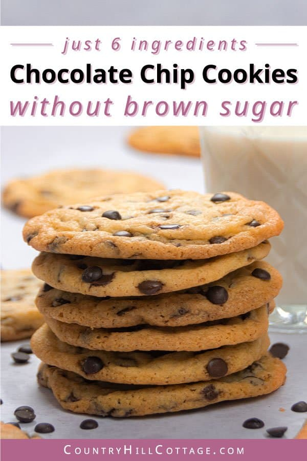 chocolate chip cookies with white sugar recipe