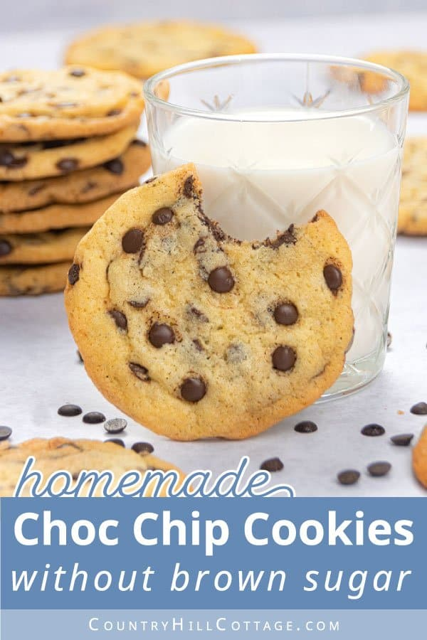 chocolate chip cookie with white sugar