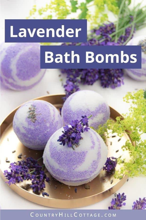 DIY essential oil bath bombs