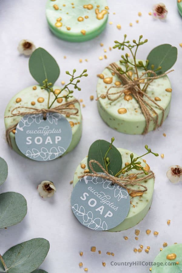 Homemade eucalyptus soap