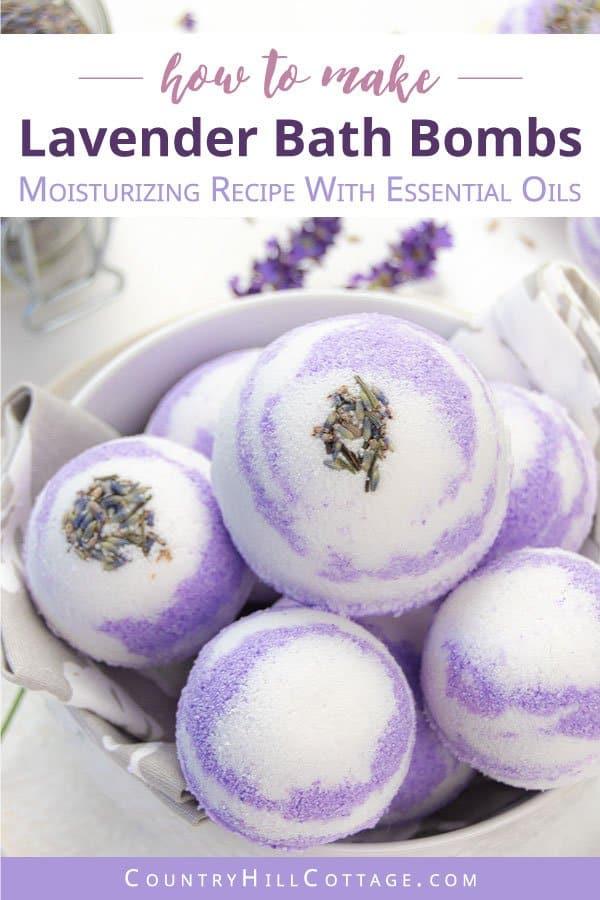 homemade lavender bath bombs