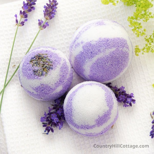 Lavender Bath Bombs Recipe {Natural + Essential Oils}