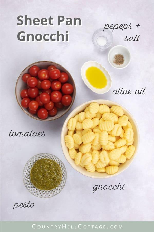 ingredients for sheet pan gnocchis