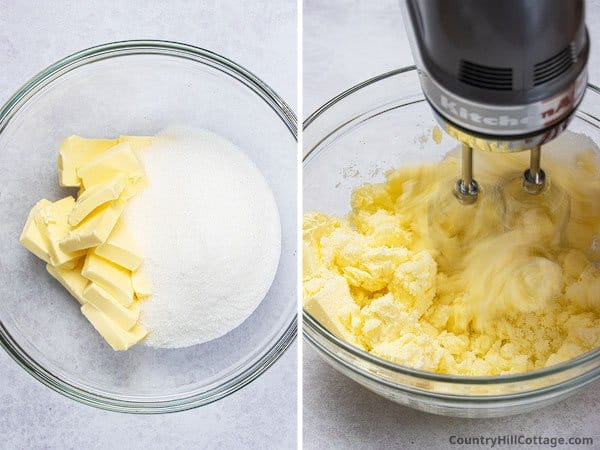 Step 1: Cream butter and sugar