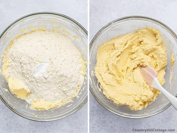 Step 3: Stir in flour and baking soda