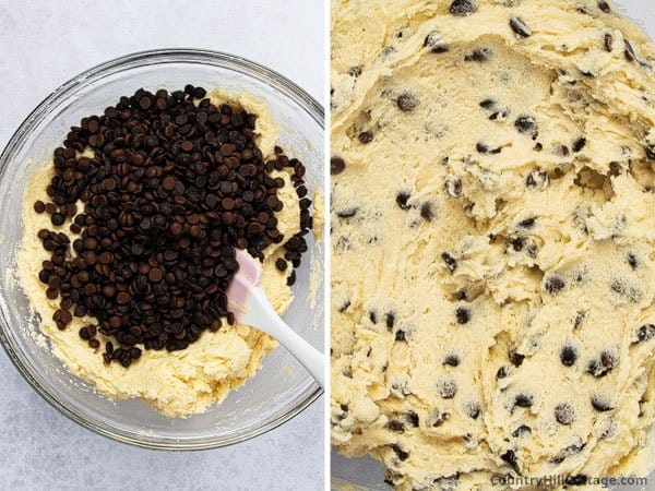 Step 4: Fold in chocolate chips