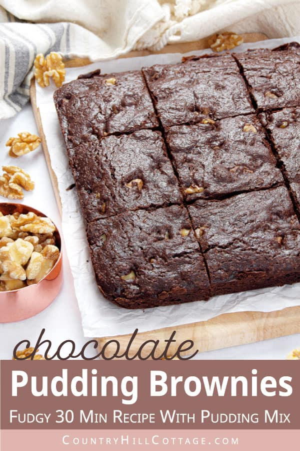 brownie recipe with chocolate pudding mix