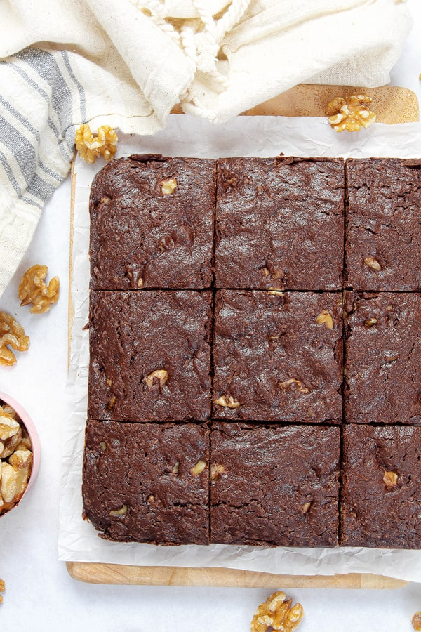 brownies with chocolate pudding