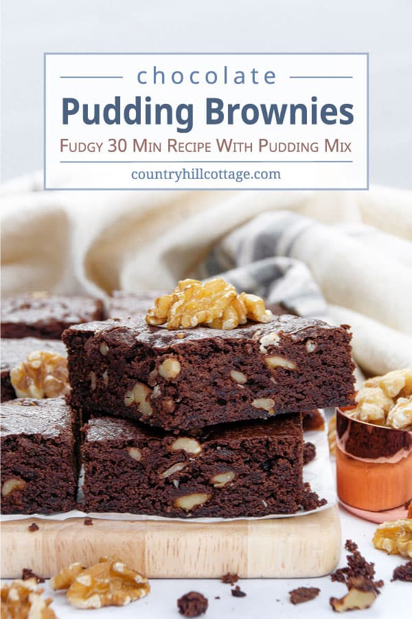 chocolate pudding brownies