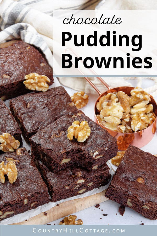 fudgy pudding brownies