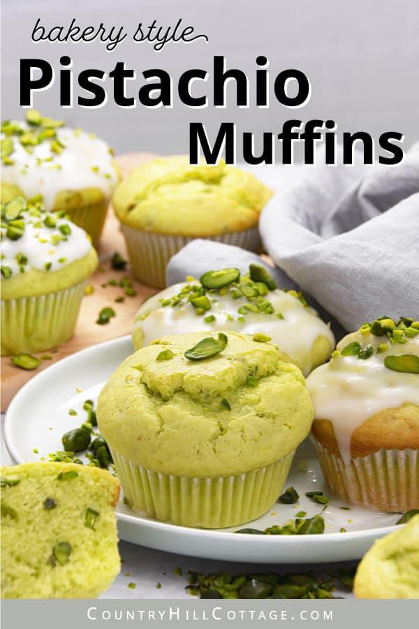 healthy pistachio muffins