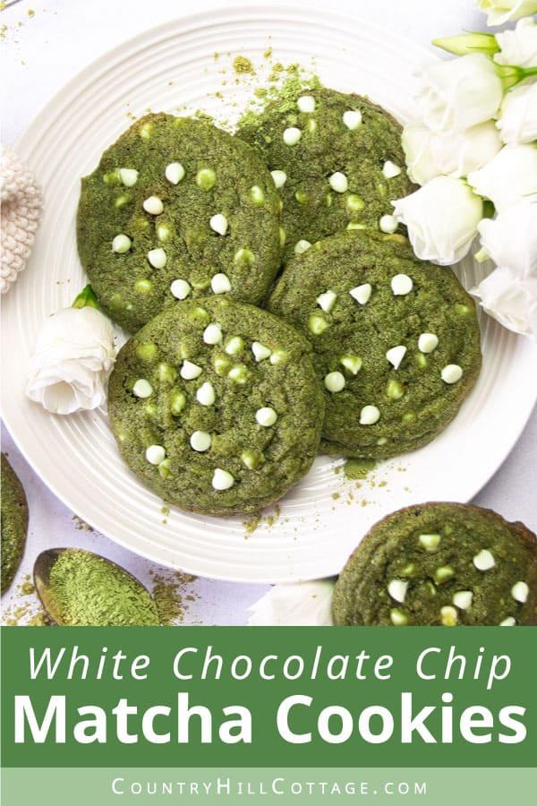matcha white chocolate cookies