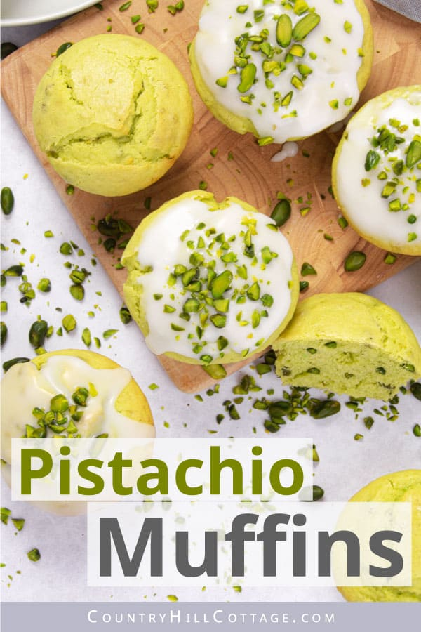 pistachio pudding muffins
