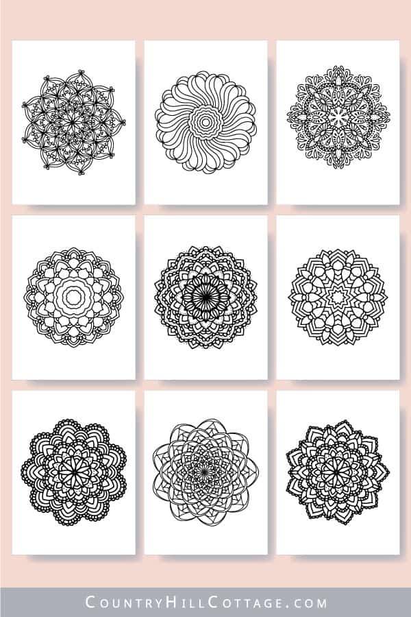printable mandala coloring sheets