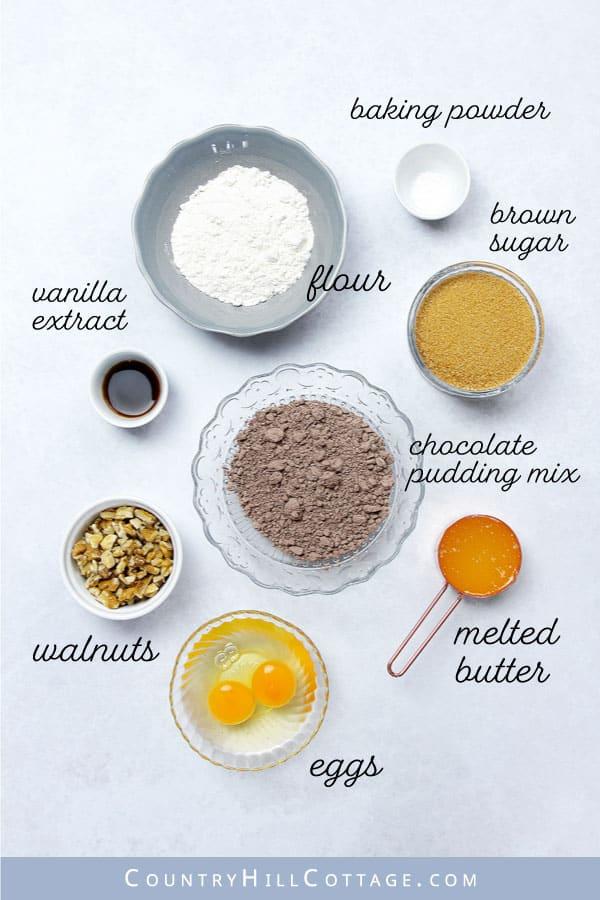 pudding brownie ingredients
