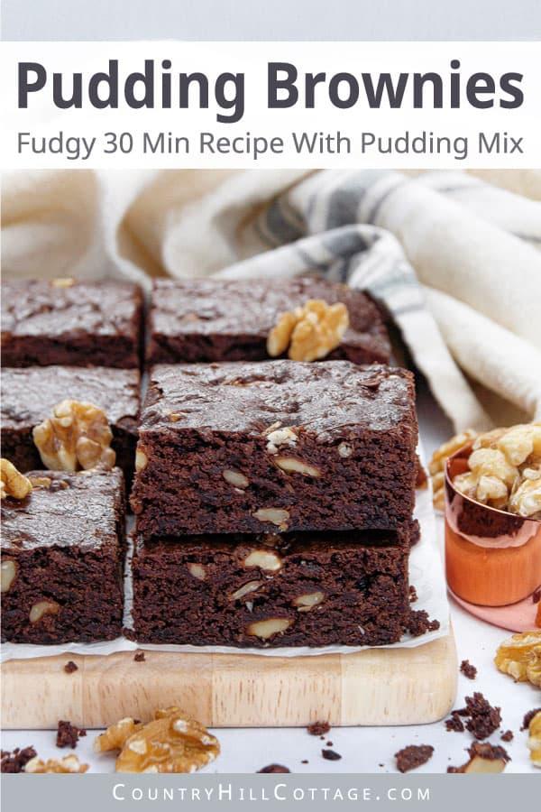 pudding brownies