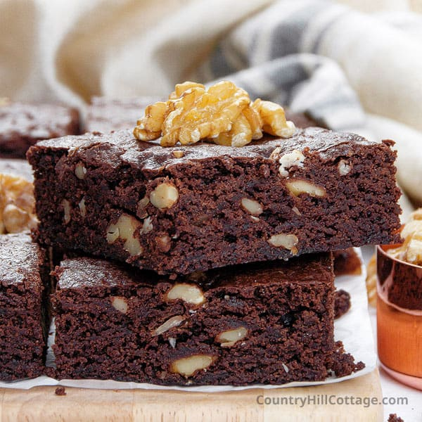 Pudding Brownies {Vintage Recipe with Pudding Mix}