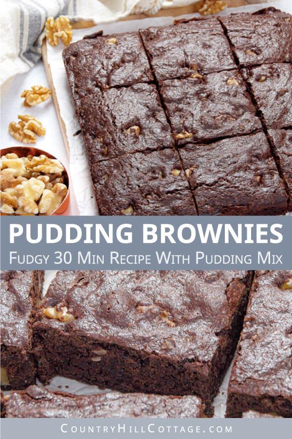 vanilla pudding brownies