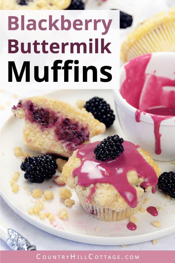 blackberry buttermilk muffins