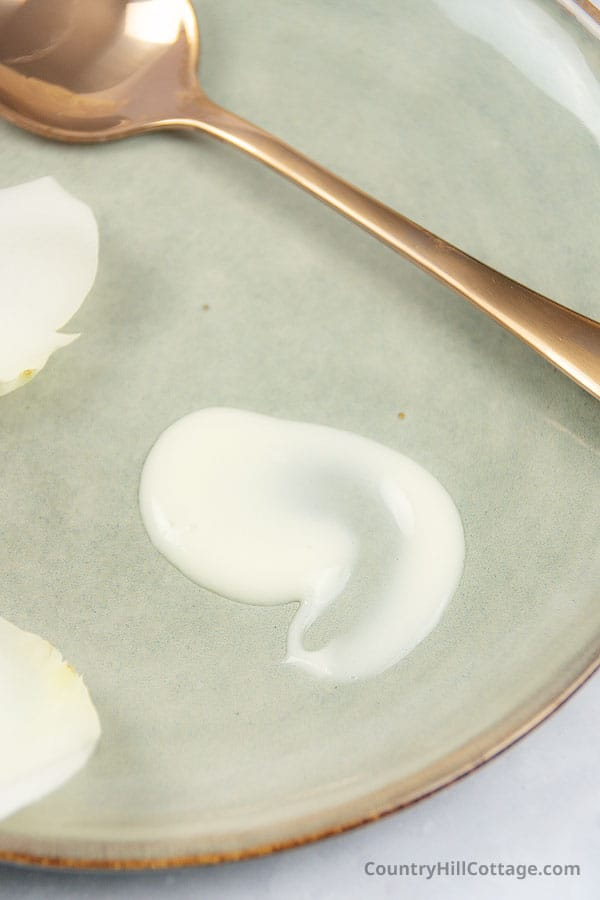 diy cleansing milk texture