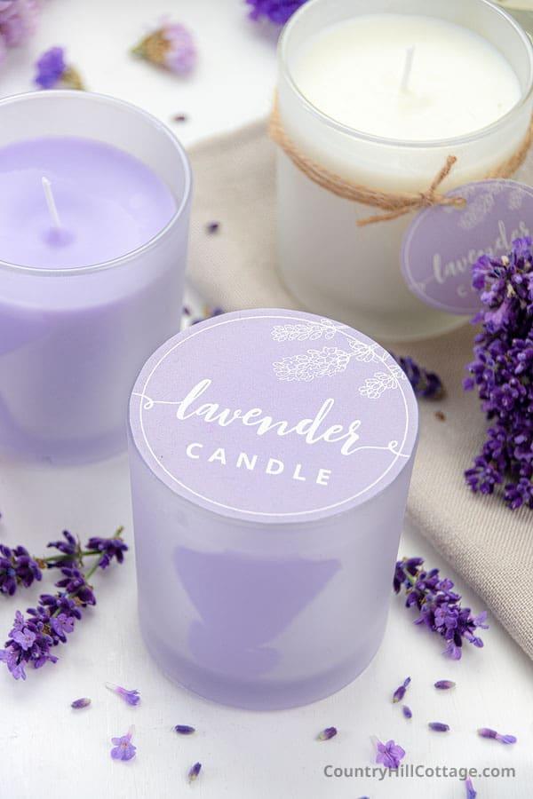 printable Lavender candle label