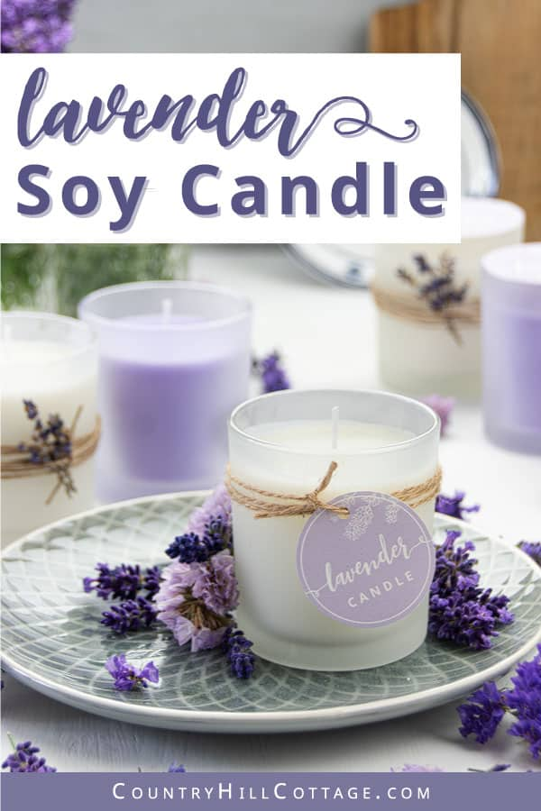 diy lavender scented candles with essential oils