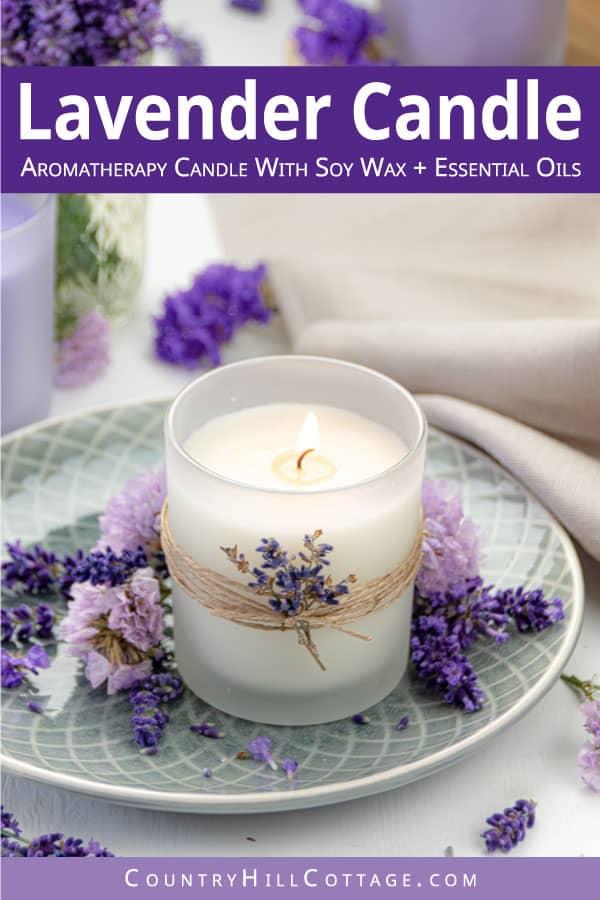 diy lavender candle